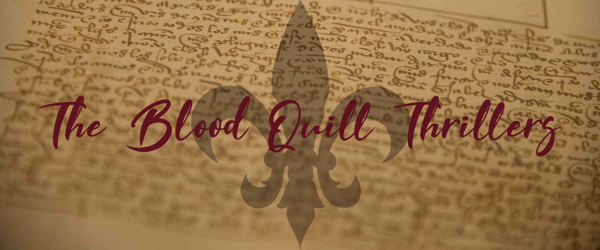 The Blood Quill Thrillers Banner